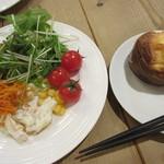 カフェ&レストラン グリーンテーブル - サラダ&ポップオーバー