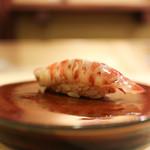 右江田 - 料理写真:車海老の昆布〆☆