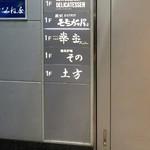 鮨 土方 - ビルの1階