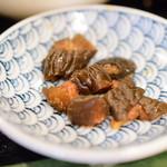 カフェ&スナック うめ - 【日替りランチ:煮込みハンバーグ定食@税込830円】漬物