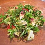 ラ・ターチ - 春の野菜の一皿~香川のアスパラガス、ほっき貝、富山のホタルイカの燻製、ふきのとうのソース