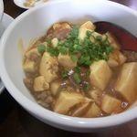 翠陽 - ミニ麻婆丼セット(坦々麺のセット) 2017.08.13