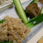 たこ林 - 珍味(卵とみそ)