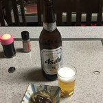 五・六・八食堂 - 大瓶ビールと、サービスお通し