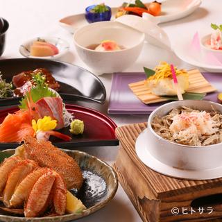 四季を味わう色彩豊かな料理を楽しむコースで贅沢なひと時を