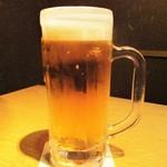 かこいや - 生ビール。      2018.03.18