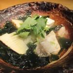 かこいや - 温物:鱒と竹の子のおろし煮      2018.03.18