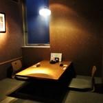 かこいや - 本日利用した 掘り炬燵の個室。      2018.03.18