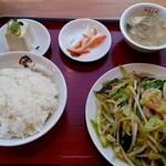 翠葉  - えび野菜定食
