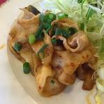 加里部 - 【本日の日替わりランチ(720円+税)】豚肉となすのピリ辛炒め