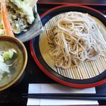 83327395 - 黒舞たけ天ぷらセット。
