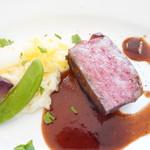 ドゥ プレジール - 北海道産牛ロース赤ワインソース
