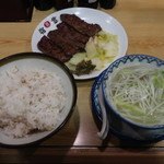 味の牛たん 喜助 - 牛たん炭火焼定食(みそ)