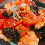 元祖中華 和合餃子 - 卵とトマトの炒め物?