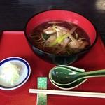 石挽蕎麦 いちい - 料理写真:鴨南ばんそば 1400円