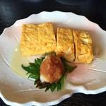 石挽蕎麦 いちい - だし巻き玉子 500円