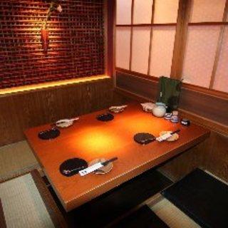 個室4名~!プライベートなお食事もお楽しみいただけます♪