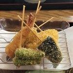 天ぷら 串割烹 なかなか 室屋 - 料理写真:串揚げ定食