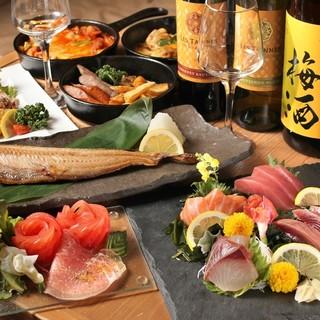 洋食も和食も楽しめる美味しいお料理とお酒