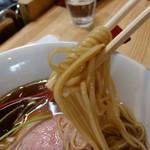 83342963 - 【2018.3.31(土)】(竹)醤油中華そば(並盛・140g)750円の麺