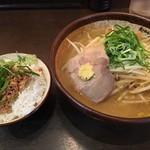 83343008 - ランチセット(炙り味噌ラーメン+鶏そぼろ丼)