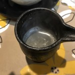 布施 細見商店 - つけ麺の割スープ ※カツオ出汁