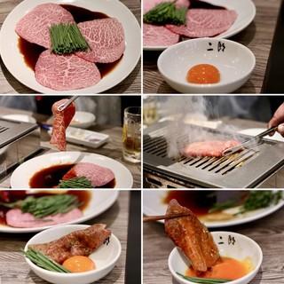 焼肉・冷麺 二郎 本店 - 山形牛A5 BMS12雌 マルシン焼きすき