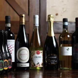 厳選のワインリスト