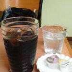ミツバ - ガツめし東海版のクーポンで頂いたアイスコーヒー