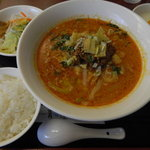 健康中華庵 青蓮 - 坦々麺セット(13時以降)