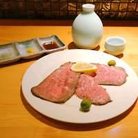 手料理 うみ野 - うみ野自慢の手作りローストビーフ980円。