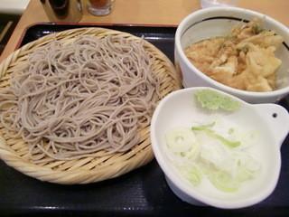 しぶそば 長津田店 - かき揚げ天丼&そば