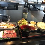 牛倭心伝 - ハラミランチ+てっちゃん