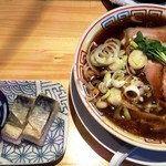 83359245 - サバ醤油そば+サバ寿司