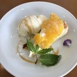 cafe&food may - はっさくのチーズタルト