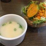 83361205 - ランチセットのサラダとスープ