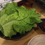 ホルモン焼肉 肉の大山 - サンチュ 518円