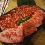 ホルモン焼肉 肉の大山 - 三種盛り(カルビ・ロース・ハラミ) 1,598円