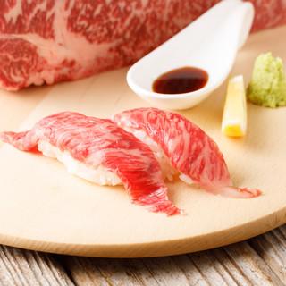 本物の黒毛和牛の炙り寿司ならミート吉田へ◎