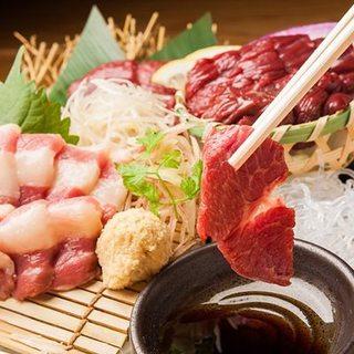 『肉の旨みは、鮮度に宿る』馬刺し(全9種)