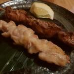 石垣 食堂 酒晴 - セセリ 120円、レバー 150円