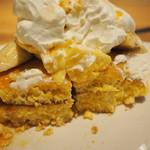 カフェバイプレゴ - ぷりんぷりんパンケーキの断面