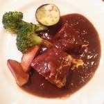 洋風レストラン Soleil - 牛バラ肉の赤ワイン煮込み