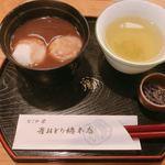 83367666 - 餅しるこ ¥700。甘さはかなり控えめでお上品な味わい。