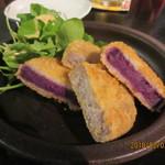 83367679 - 田芋と紅芋コロッケ