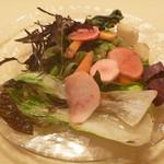 リストランテ ヴォナ フォルトゥーナ - 自家栽培で無農薬で育てた旬野菜たっぷりのバーニャカウダ仕立て (ハーフ)