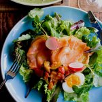 カフェ バイ ザ シー - セイボリーフレンチトースト スモークサーモン&菜園ラタテュイユ