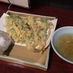 手打蕎麦 とし庵 - たらっぺ天ぷら