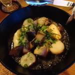 iq cafe&dining - エリンギとホタテ貝柱の醤油バター焼き(780円)