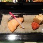 緩音 - 鮭の塩焼き,辛子明太子,玉子焼き